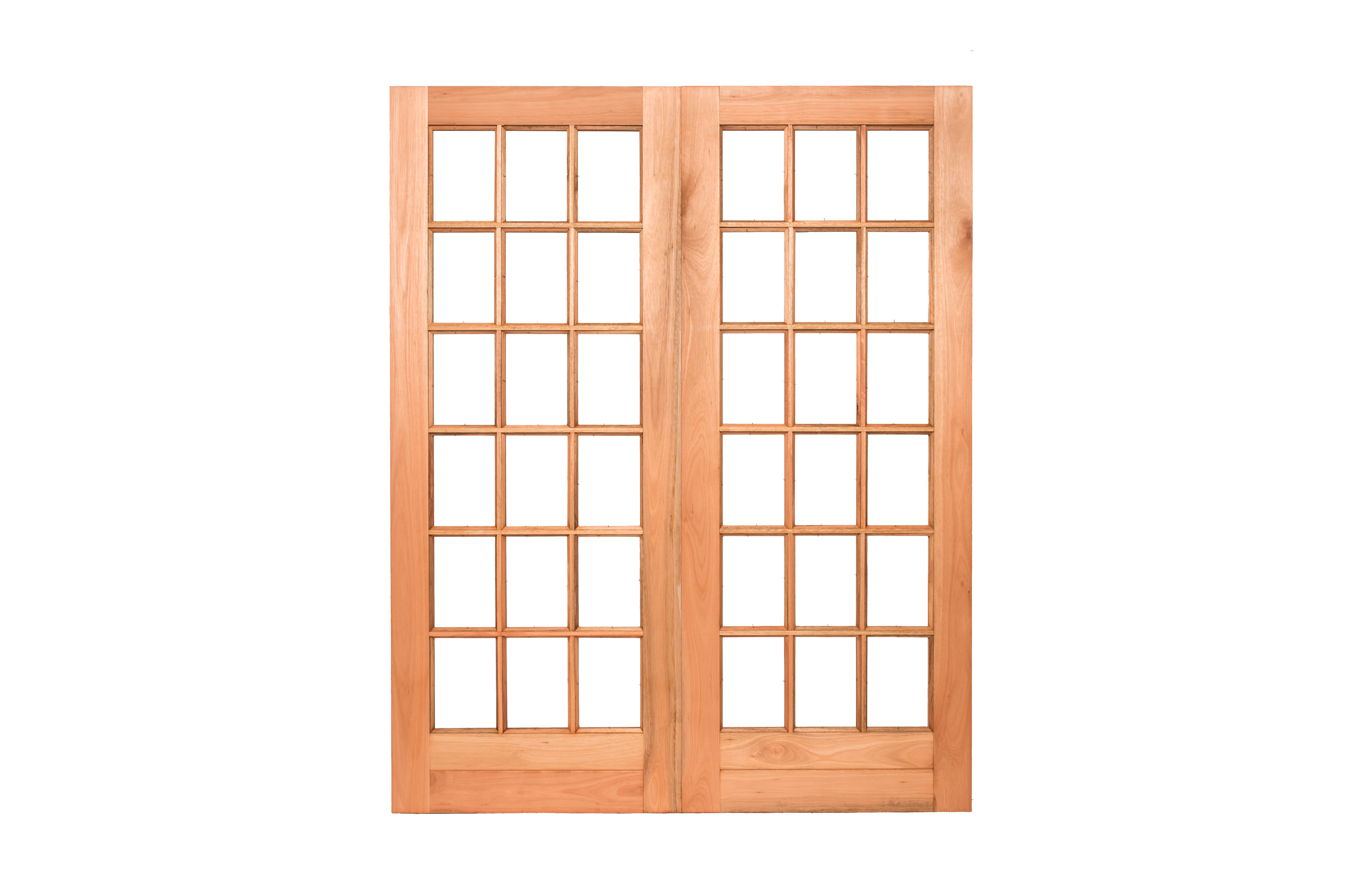 French small pane hardwood double doors large mega doors for Double pane french doors