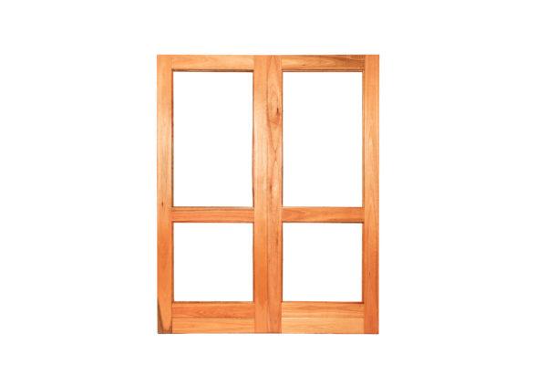 G2 PAIR HORIZONTAL RAIL GLASS DOORS