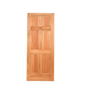 6 PANEL UN-EQUAL HARDWOOD DOOR