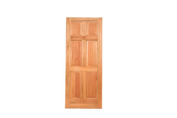 6 PANEL UN-EQUAL HARDWOOD DOOR