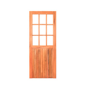 9 Glass FLB Ply Back Meranti Door
